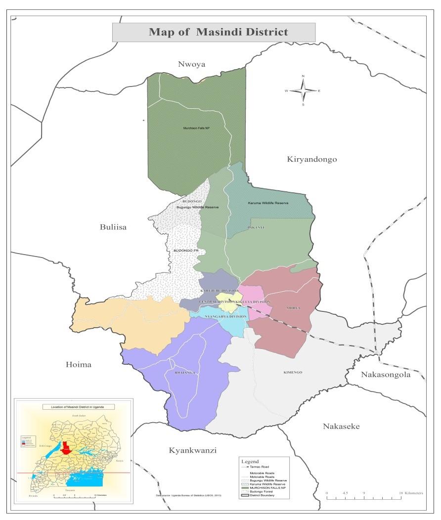 Map of Masindi District